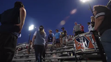 Fans cheer for Sky Blue FC at Yurcak Field in Piscataway on Friday, July 12, 2019.