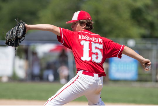 The 2019 Little League Baseball Section 3 Tournament featuring Holbrook vs Two River East. Holbrook starting pitcher Mike Kisseberth.Toms River, NJSaturday, July 13, 2019