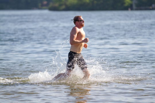 Christian Vanderkaay, 37, was the top overall finisher at the 92nd annual Goguac Lake Swim on Saturday, July 13, 2019.