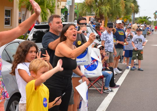 This week celebrates the 50th anniversary of Apollo 11 and man landing on the moon. Part of the celebration on the Space Coast was an astronaut parade in downtown Cocoa Beach. Huge crowds turned out for the parade.