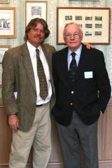 Greg Gardner, left, of Jensen Beach, met with astronaut Neil Armstrong at a luncheon in Vero Beach in 2009.