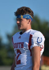 South All-Star Liam Thompson, of North Central High School in Indianapolis, and before the IFCA All-Star Classic at North Central High School on Friday, July 12, 2019. The North won the 53rd All-Star Classic, its fifth straight win in the series.