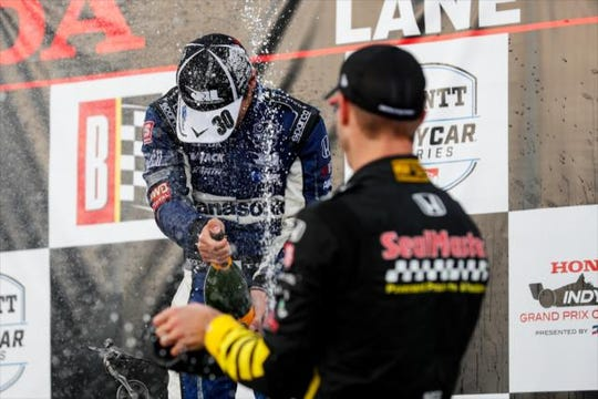 Takuma Sato and Sebastien Bourdais celebrated at Barber together earlier this season, but Saturday morning on the streets of Toronto, the two came to blows.