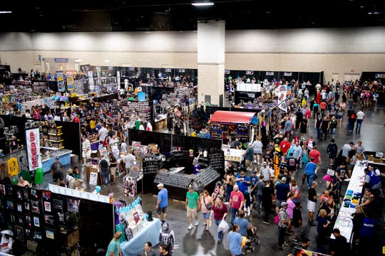 A view of the Fanboy Expo at the Knoxville Convention Center on July 13, 2019.