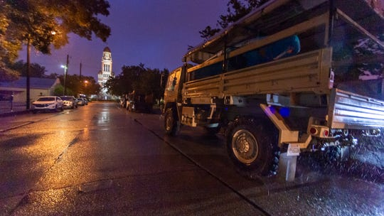 The Lafayette Parish Sheriff's Department has officers working 12 hour shifts as Tropical Storm Barry approaches south Louisiana Saturday, July 13, 2019.