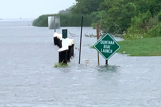 Photos submitted by the St. Mary Parish Sheriff's Office show some of the effects of Tropical Storm Barry as it moved onshore on Saturday, July 13, 2019.