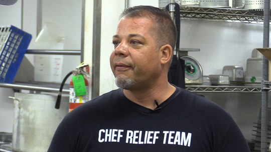 World Central Kitchen supervisor Jason Collis talks to us about his plans for bringing food for first responders in Morgan City.