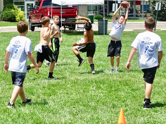 The eighth annual Brian Sampson Memorial Youth Football Camp was held Friday in Lancaster.