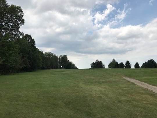 No. 16 at The Woods at Possum Run is a 376-yard Par 4 with a blind shot off the tee.