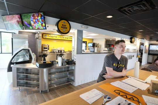 Owner Rhett Douglas at his Which Wich sandwich chain, set to make its Memphis area debut in Collierville on July 22, 2019.