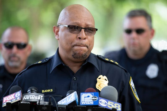 Milwaukee Police Assistant Chief Raymond Banks briefs the media on the fatal shooting of a 3-year-old girl in a road rage incident near North 42nd Street and West Concordia Avenue on Saturday morning.