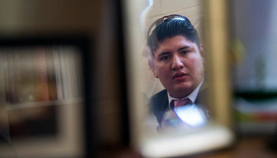 Isaac Molina, a Nicaraguan doctor and asylum seeker, talks about his experiences in immigration detention centers during an interview in Montgomery, Ala., on Friday July 12, 2019,
