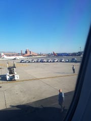 A JetBlue flight from Newark to Tampa was delayed on the New Jersey tarmac and evacuated Saturday morning.