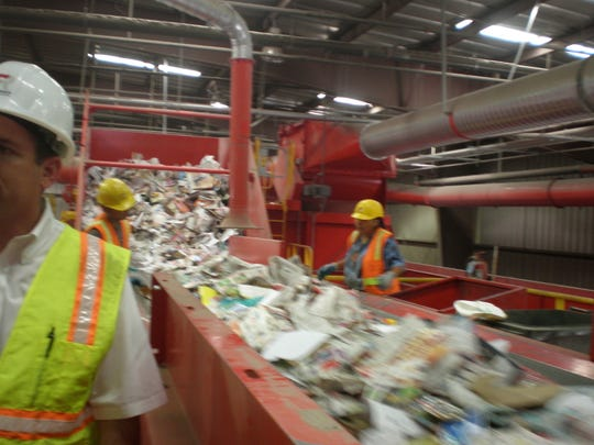 Tons of materials are processed every hour at Friedman Recycling in El Paso; it all starts with employees pulling out non-recyclable trash by hand on a fast moving conveyor belt… then technology takes over.