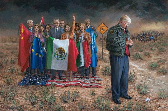 Provocative conservative artist donates Trump artwork for Arizona GOP fundraiser