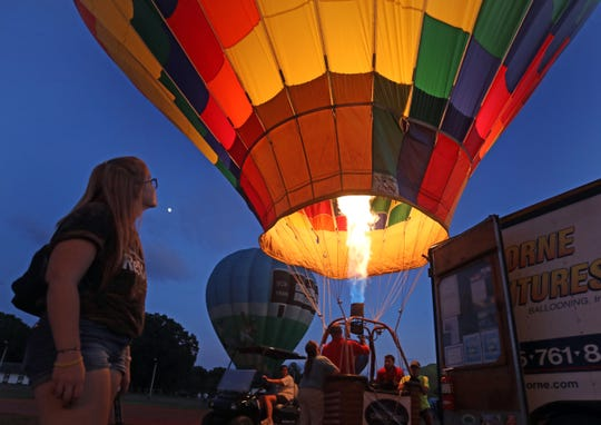 The Hudson Valley Hot-Air Balloon Festival hosted by the Dutchess County Regional Chamber of Commerce at the Dutchess County fairgrounds in Rhinebeck July 12, 2019.