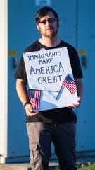 Protesters made meaningful signs to help express their feelings on the issue during the Lights for Liberty candlelight vigil in front of the York County Prison ICE Detention Center, July 12, 2019.