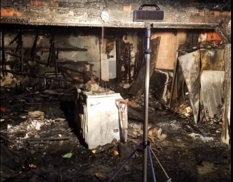 Three Perinton residents made it out of the house safely after a garage fire on Saturday morning.