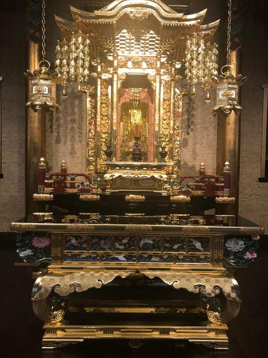 The Buddhist Temple of Salinas sent off its altar nine months ago to be refurbished in time for its hundredth year. July 12, 2019.
