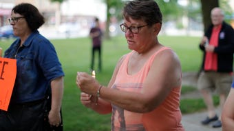 Lights for Liberty Rally at Fountain Park brought together about 150 people seeking change in U.S. border policies