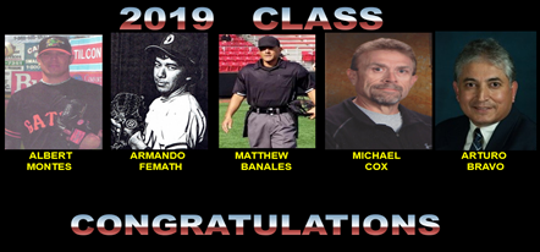 2019 El Paso Baseball Hall of Fame inductees