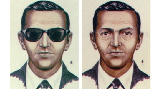 These are vintage sketches of the infamous D.B. Cooper