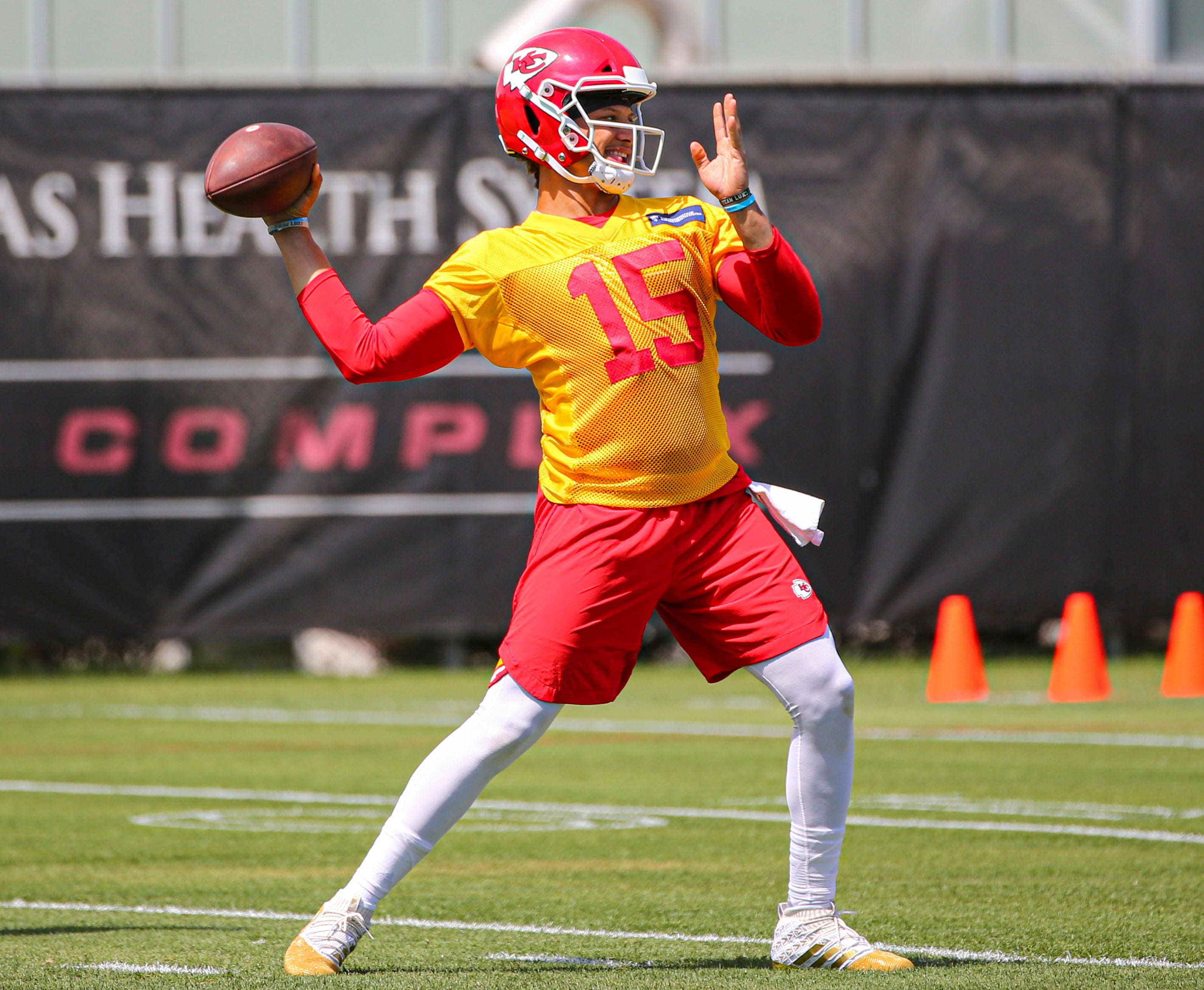 Watch reigning NFL MVP Patrick Mahomes launch a football out of Arrowhead Stadium