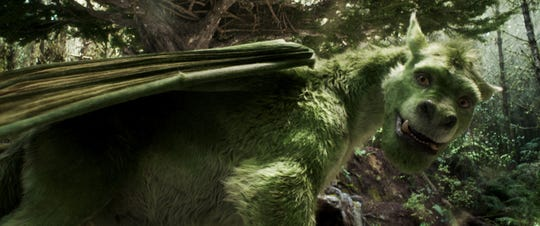 "Elliot is a computer-generated dragon who's furry rather than scaly in the remake of ""Pete's Dragon."""