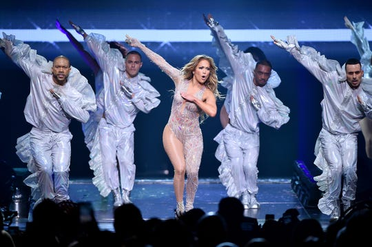 Jennifer Lopez performs onstage during the It's My Party Tour at Madison Square Garden on July 12, 2019 in New York City.