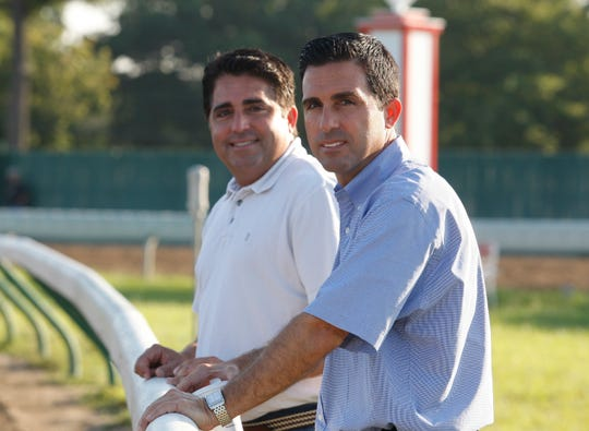 Gregg (L) and Rick Sacco at Monmouth Park  on Saturday August 25, 2009.