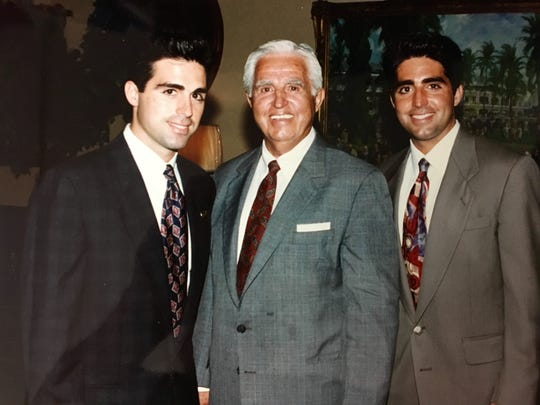 The late trainer William Sacco (center) with his sons, Rick (left) and Gregg in an undated photo.