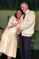 "Peggy Whelan and Lawrence Gaughan play the Gilbreth elders in ""Cheaper by the Dozen."""