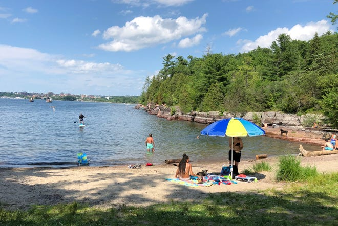 Oakledge Cove in Oakledge Park in Burlington provides an easy access to Lake Champlain as well as prime sunbathing spots on Saturday, July 13, 2019.