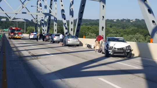 Eastbound Interstate 275 from Kentucky into Ohio was closed for about an hour Saturday evening after a 19-car crash  within the areas of I-275 that are under construction on the Combs-Hehl Bridge.