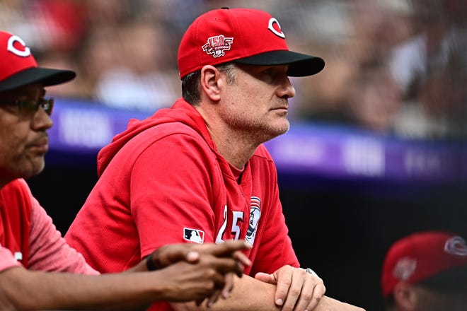 """Cincinnati Reds Manager David Bell says, """"The only thing we can do is find ways to get better. We're certainly not satisfied with where we are."""""""