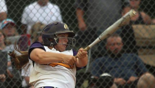 Indianola senior Sammie Becker follows through on her swing.
