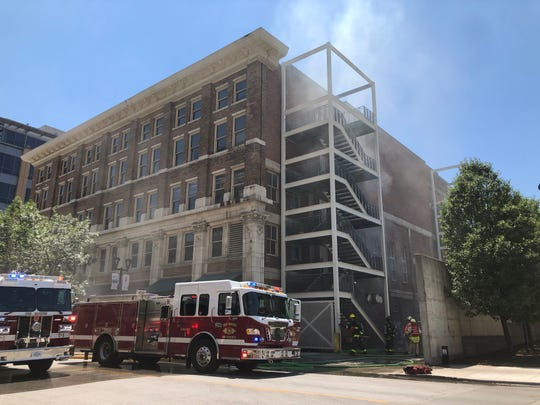A ventilation fire caused Centro, an Italian eatery in downtown Des Moines, to evacuate on Sunday, July 14, 2019.