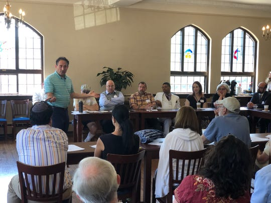 Rep. Andy Levin D-Bloomfield Township reflects on his recent trip to the United State's southern border at the Rio Grande Valley to an interfaith group meeting at Royal Oak First United Methodist Church on July 14, 2019.
