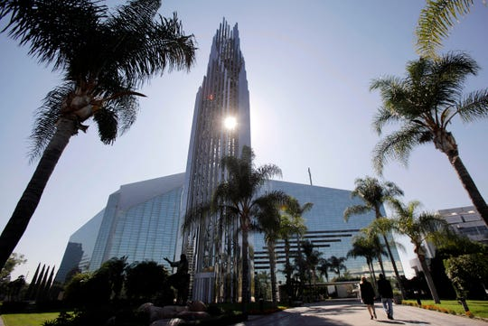 This Oct. 27, 2011 file photo shows the Crystal Cathedral in Garden Grove, Calif. The iconic glass-paned church in Southern California that once housed a booming televangelist ministry has been transformed into a cathedral to give the region's Catholics a long-awaited and much larger place to congregate and pray.