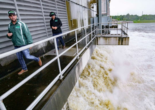 The Gulf Intracoastal Waterway West Closure Complex,  the largest pumping station in the world, was started Saturday because of anticipated rain from Hurricane Barry.