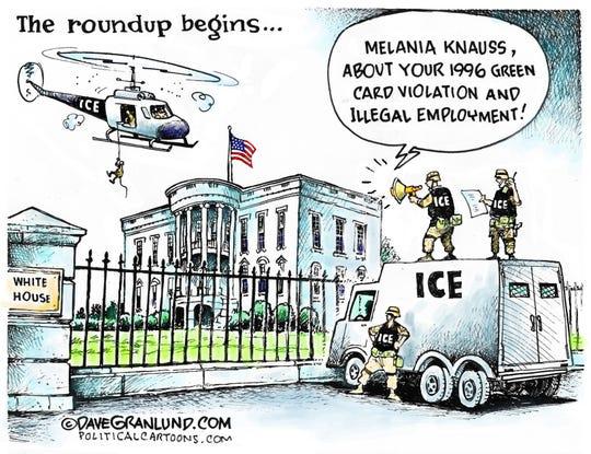 ICE's roundup starts with Melania.