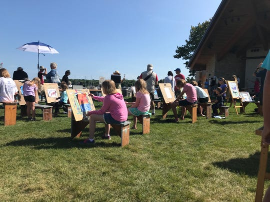 The Door County Plein Air Festival isn't just for adults, as children can take part in the Kids Paint at Waterfront Park in Sister Bay on the last day of the festival.
