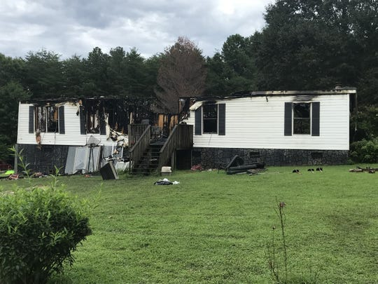 A 75-year-old man and his 25-year-old grandson died in a house fire near Walhalla late Saturday night.