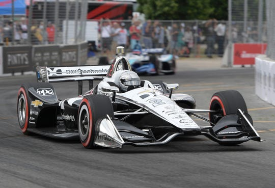 Simon Pagenaud earned the pole position, then won the Honda Indy toronto.