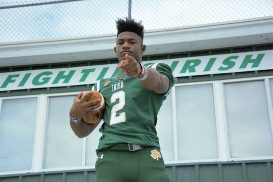 Greenville-St. Joseph's Dillon Johnson compiled over 2,600 total yards and 20 touchdowns while tallying 126 tackles last season.