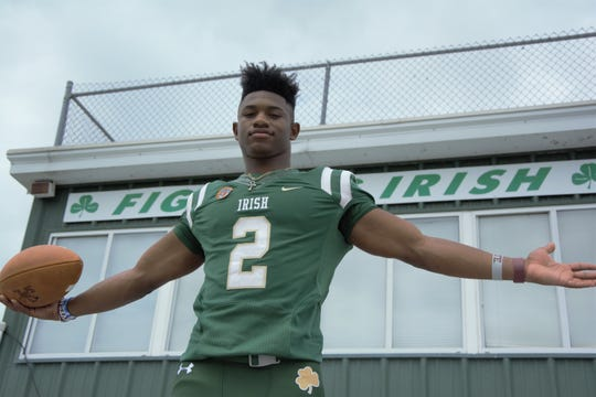 Greenville-St. Joseph's Dillon Johnson poses for a photo at his school. Johnson  has helped lead St. Joe to consecutive state titles.