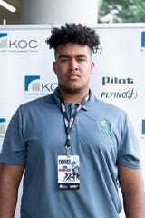 Bryn Tucker, Catholic, at Knoxville Football Media Day at Three Ridge Golf Course in Knoxville, Tennessee on Friday, July 12, 2019.