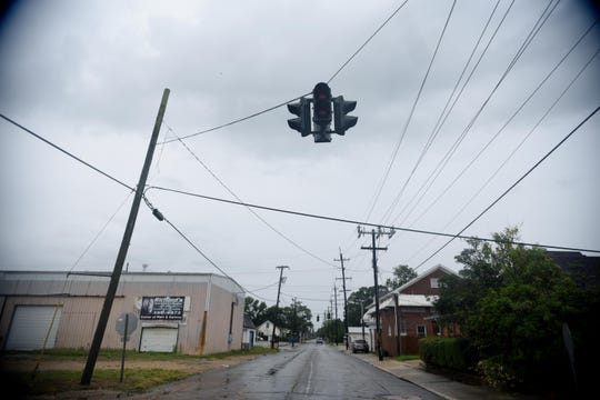 The traffic lights are out in New Iberia Sunday morning July 14, 2019.