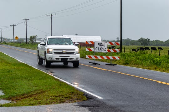 Flooding in Intracoastal City leads to road closures after Tropical Storm Barry.