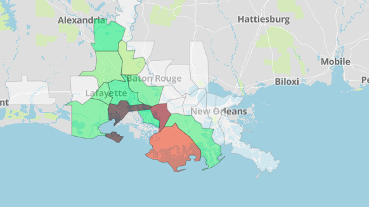 Tropical Storm Barry update: See power outages across Louisiana on government map, mobile map, apple map, android map, education map, aaa cooper transit time map, at&t u-verse availability map, amazon map, projected snow accumulation map, technology map, nj new jersey map, office map, power map, ipad map, concord new hampshire map, louisiana natural resources map, coverage map, data map, microsoft map, construction map,